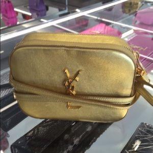 yves saint laurent logo-embellished crossbody bag