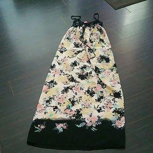 Goddess Dresses & Skirts - Black and Floral Maxi Dress Reposh