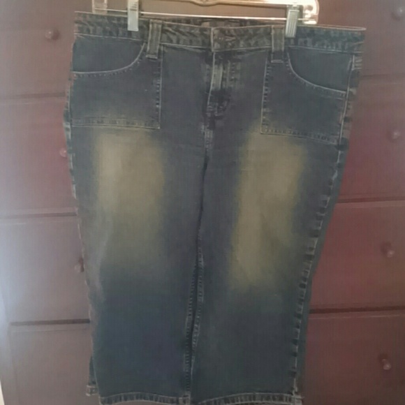 Clothing, Shoes & Accessories Fashion Style Womens Junior Denim Cropped Pants Size 5 L.e.i. Jeans
