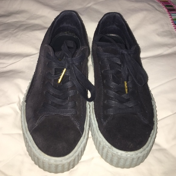 the best attitude 22bbc 41b9d Puma creepers!!! Navy and baby blue bottoms