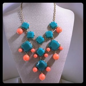 Green & Orange Statement Necklace