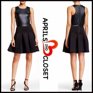 Romeo & Juliet Couture Dresses & Skirts - ❗️1-HOUR SALE❗️FAUX LEATHER Fit-And-Flare