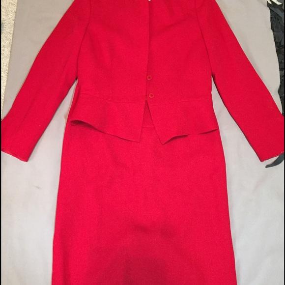 Armani Collezioni Jackets & Coats - Armani Collezioni red peplum suit