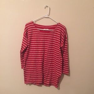 Madewell 3/4 Sleeve Striped Shirt