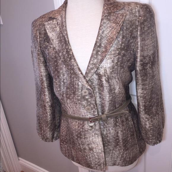 Armani Collezioni Jackets & Coats - Armani Collezioni linen silk blend jacket.