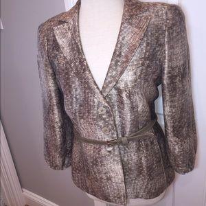 Armani Collezioni linen silk blend suit