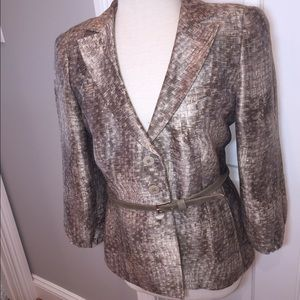 Armani Collezioni linen silk blend jacket.