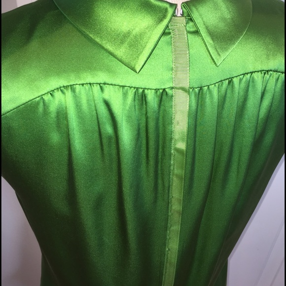 Magaschoni Tops - Magaschoni green silk blouse SALE