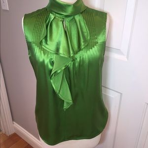 Magaschoni Tops - Magaschoni green silk blouse