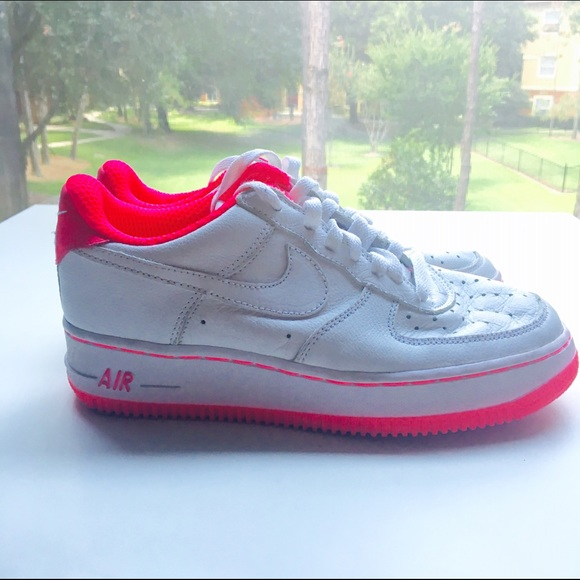 Rare White And Hot Pink Air Force Ones