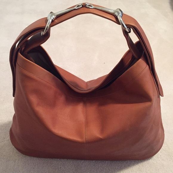 Cape Cod Leather Horse-Bit Shoulder Bag 69b6cdaffaa39