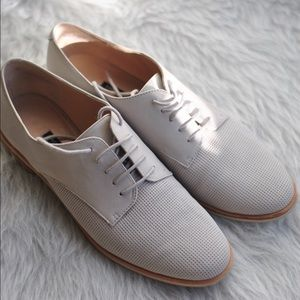 French Connection Dakin Gray Suede Leather Oxford