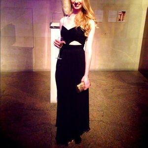 J mendel black dress 2x