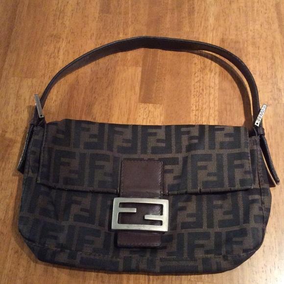 FENDI Handbags -   FINAL PRICE   Zucca FENDI baguette logo bag 8974cbd6f4d15