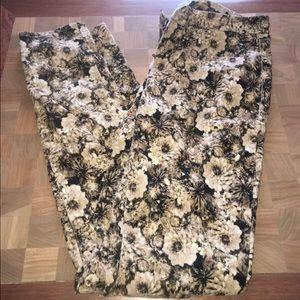 Madewell Pants - Madewell floral corduroy pants
