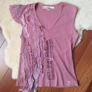 Miss Sixty Tops - Miss Sixty Sequin and Velvet T Shirt Size S