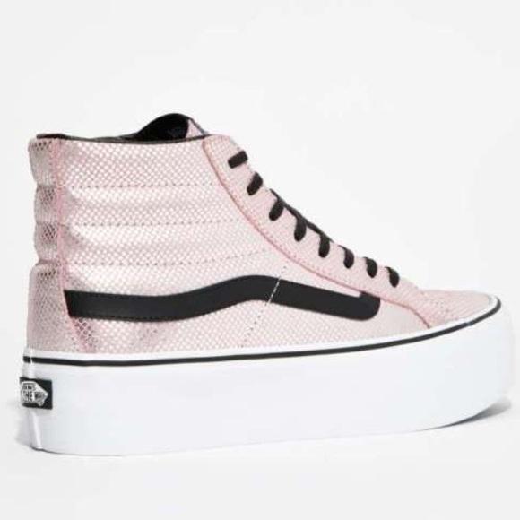 aaea34f33e02 Vans Metallic Snake Sk8 Hi Platform Sneaker. M 5760a6969c6fcff46d012662