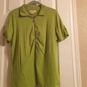Michael Kors green t shirt