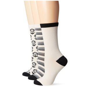 Lucky Brand Accessories - New Lucky Brand Women's 3pk Crew Socks Gift Boxed