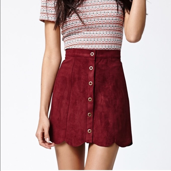 45% off Kendall & Kylie Dresses & Skirts - Kendall & Kylie Maroon ...
