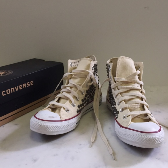 2e660f8164cc26 Converse Shoes - Converse Joey Studded High Top (Ivory)