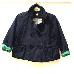 "Jcrew navy cropped ""pea coat"""