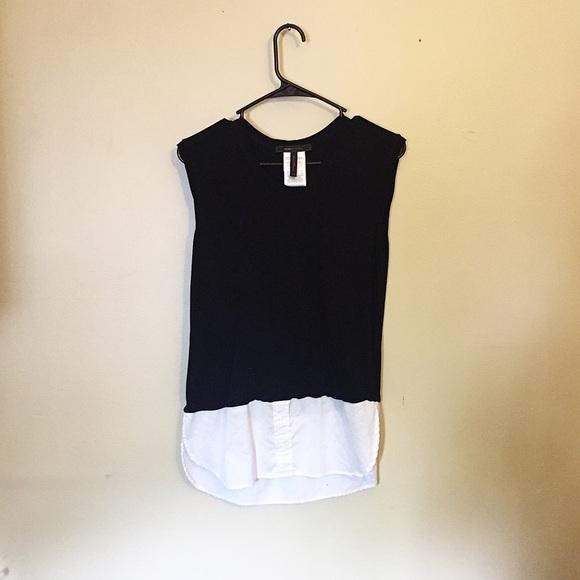 BCBGMaxAzria Tops - bcbgmaxazria black & white sleeveless top