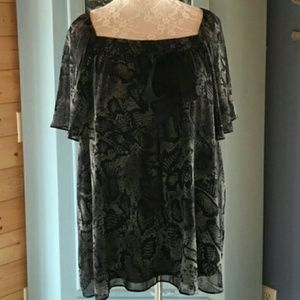 Black Stylish Blouse Size XL