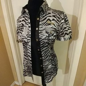 COOGI Tops - Coogi animal print top S