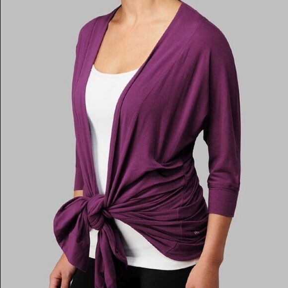 lululemon athletica - Black Lululemon Yoga Wrap Cardigan Sweater ...