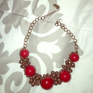 Jewelry - Red Chunky Necklace