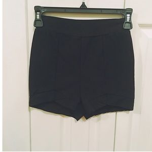 Charlotte Russe Black High Waist Short Shorts