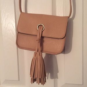 Tan Tassel Crossbody Bag