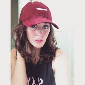 Baseball hat that says HANGRY