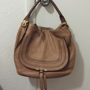 knock off chloe handbags - 58% off Chloe Handbags - CHLOE LARGE MARCIE LEATHER HOBO BAG from ...