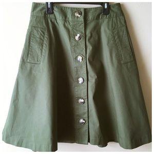 Isaac Mizrahi Skirts - Isaac Mizrahi for Target Green Cargo A-Line Skirt