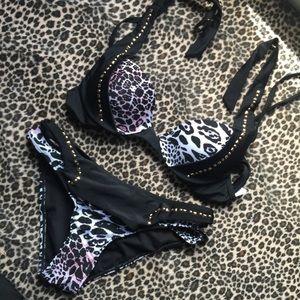 Forever 21 Other - Strappy Sexy Animal Print Bikini