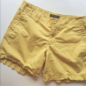 Yellow Eddie Bauer shorts