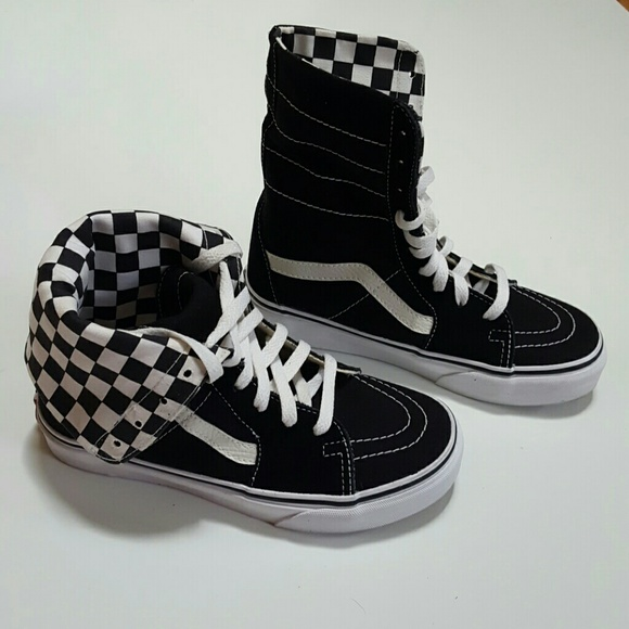 3286f70822 Vans Checkered High Tops. M 57618ad7291a352cf700615e