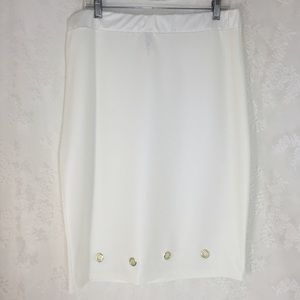 Topia Dresses & Skirts - White latex leather look skirt. FINAL CLEARANCE