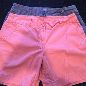Lot 2 pairs Ann Taylor Loft shorts sz 10