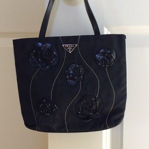 Small Black Prada Tote