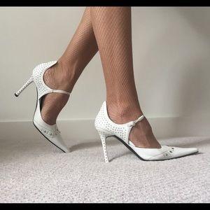 Cesare Paciotti Shoes - Cesare Paciotti White Leather Pumps