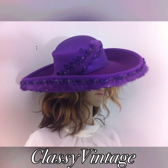 f1e1fa1cc Deep purple wool hat