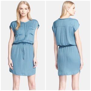Vince Dresses & Skirts - Vince Silk Drawstring Pocket Dress