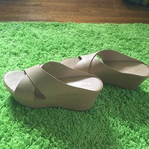2bamboo Shoes - Nude Platform/Wedge Sandals