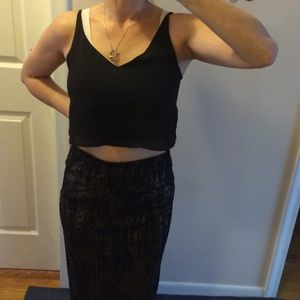 Topshop Tops - Top shop crop top black tank top BNWT.