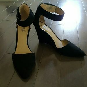 a.n.a Shoes - a.n.a Ankle Strap Wedge Pumps
