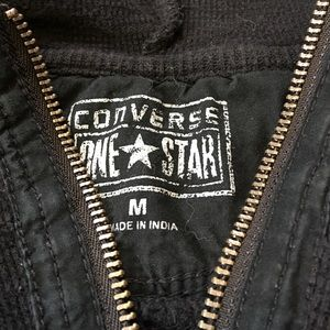 converse one star zip up hoodie