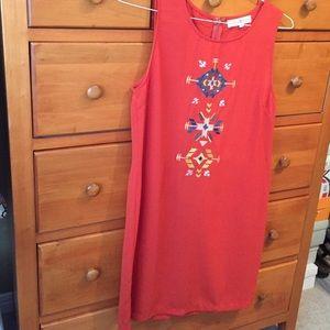 HP! NWOT Altar'd State red shift dress